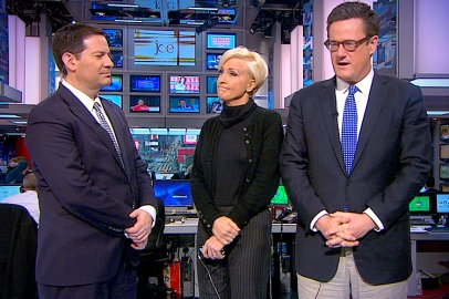 LIFE BETWEEN TELE-PROMPTS: MSNBC's media sock muppets have little in common, except an awkwardness about what to do with their hands when they have no scripts to tell them what to say.