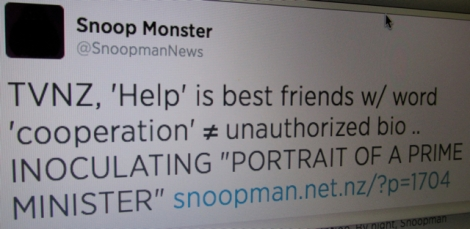 Best Friends Tweet: Snoopman News explains to One News that the difference between (un)authorized in a biography project is to do with how friendly help is cooperation.