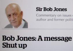 Orwellian Newspeak: Jones is essentially saying, FREE PROTEST IS PEACE DISTURBANCE.