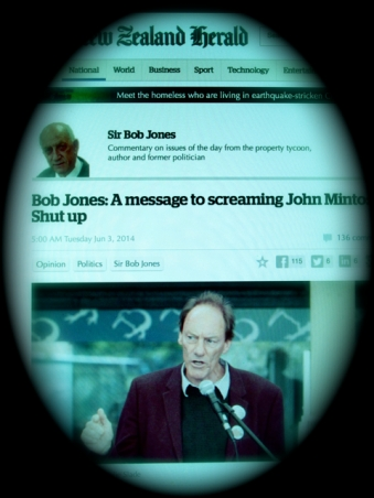 Bob-the-Flak-machine: Jones' position as an oligarch means he can slip through the newspaper's 1st propaganda filter – size, ownership & profit orientation – with discriminatory ease.