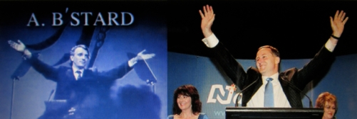 Messianic Victory Gesture: Mayall taught Key how to be 'God's gift to your nation'. Key, an atheist, mucked up the gesture.